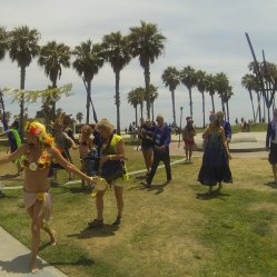 Oh, and yesterday was Summer Solstice so they had a little parade