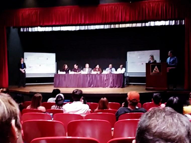 Panel Discussion, CSULB Beach Auditorium