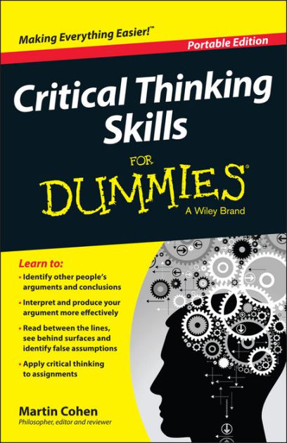 "Cover of the book ""Critical Thinking for Dummies"""