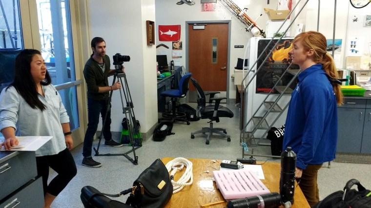 Alyssa Clevenstine in the CSULB Shark Lab