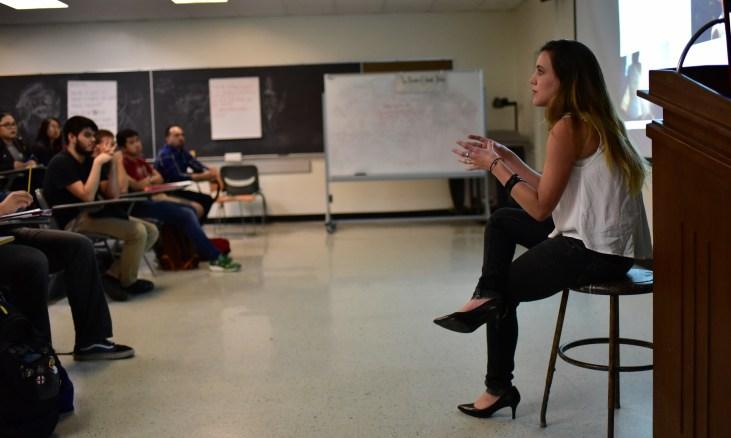 filmmaker & activist Carla Dauden visits CSU Long Beach, College of the Arts, School of Art, Art 110, in room FA4-311