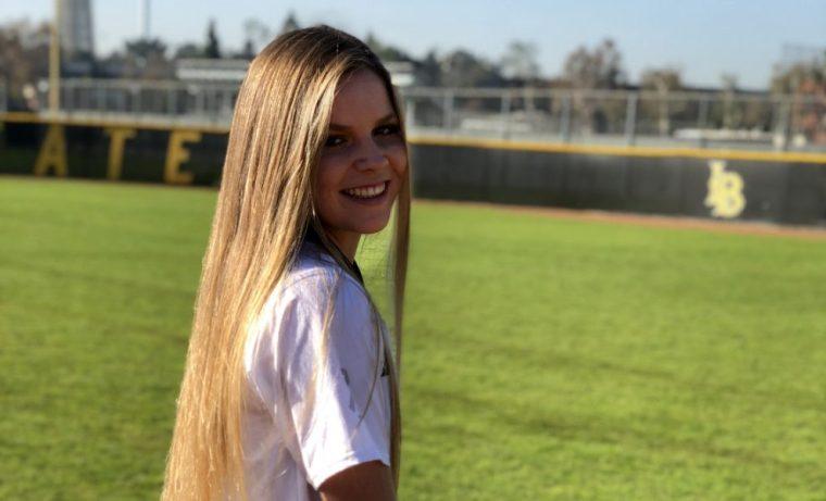 photo of Katelyn Hanson on the LBSU Softball Field