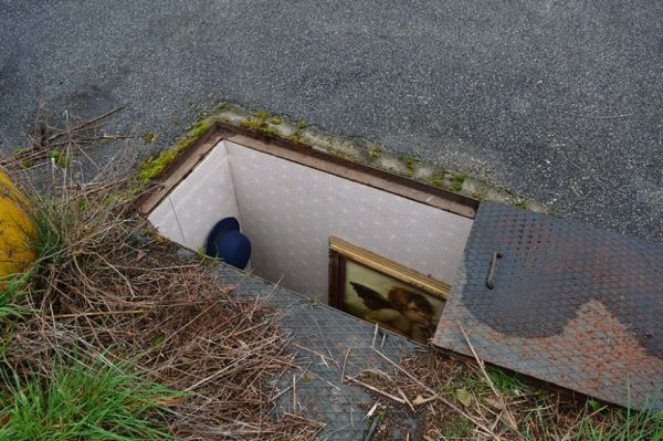 image of a secret art gallery under a street cover