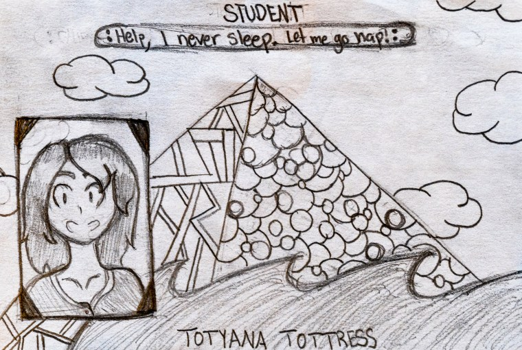 drawing of a student ID card