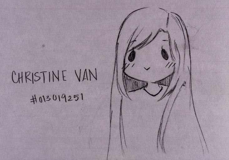 """Pencil drawing of Art 110 sage """"Emiko"""""""