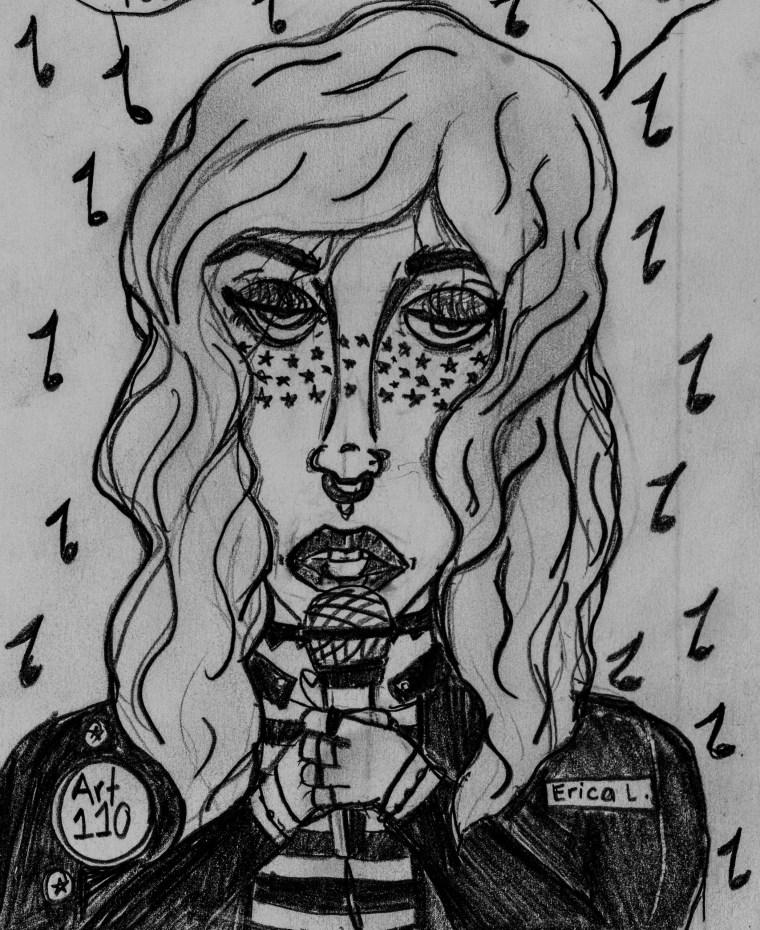 "drawing of art110 sage ""Ronni"""