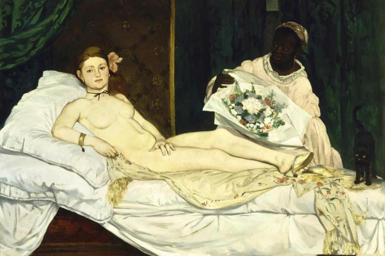Olympia by Victorine Meurent and Edouard Manet, 1863