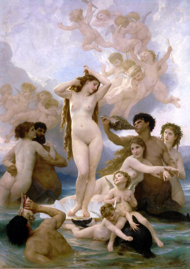 The Birth of Venus by William Bouguereau, 1879