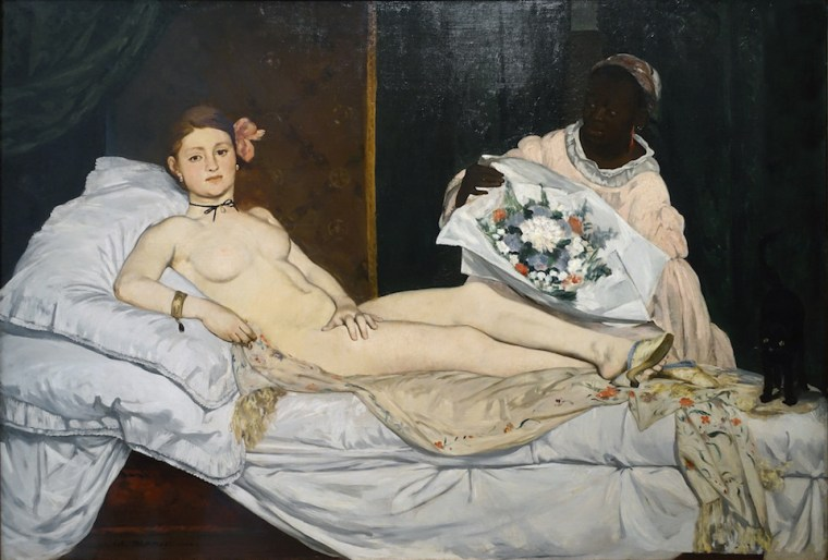 Olympia by Edouard Manet and Victorine Meurent, 1863