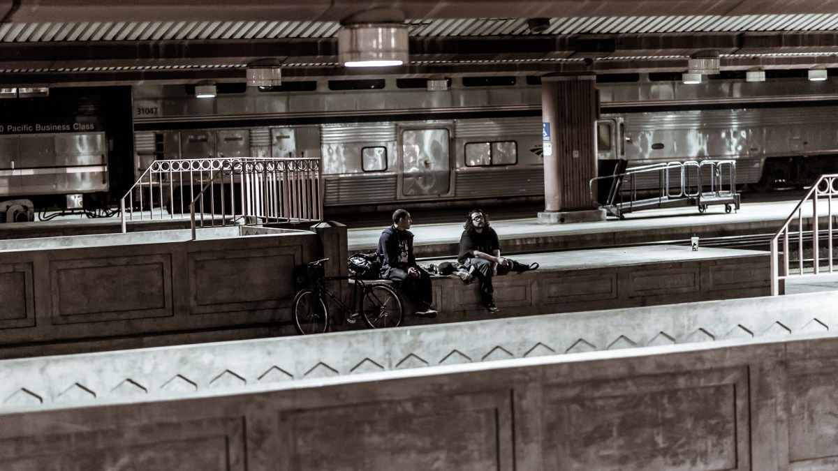 Waiting for Metrolink, 11:58pm