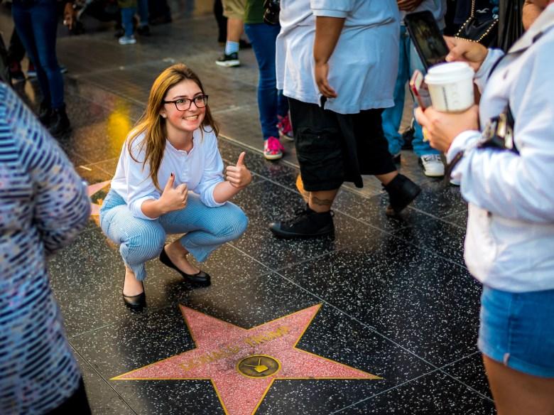 Donald Trump's Star on Hollywood Boulevard. 18:11:07