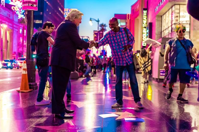 Donald Trump's Star on Hollywood Boulevard. 18:43:35 PDT