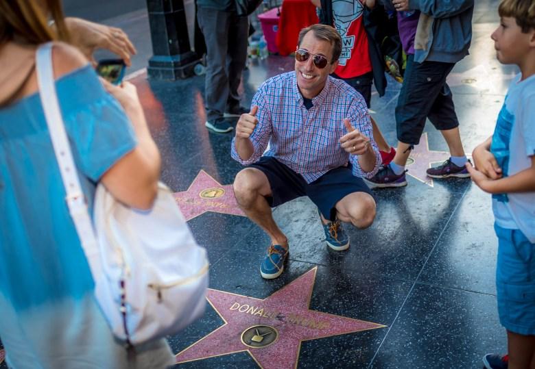 Donald Trump's Star on Hollywood Boulevard. 17:54:17 PDT