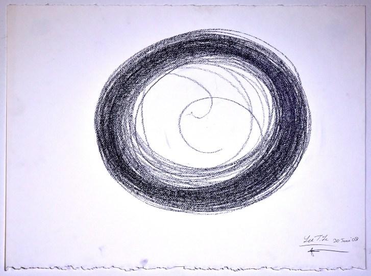 "Automatic Drawing #10, 20 June 2008, graphite on paper, 22x30"", Lee Tuyet Le & Glenn Zucman"