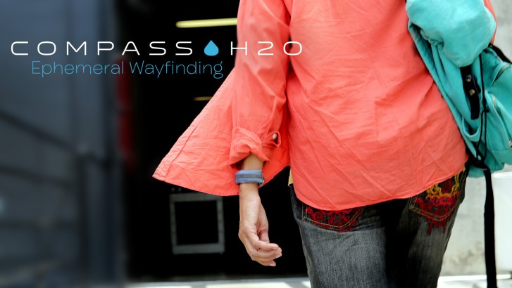 Glenn Zucman wearing a prototype Compass H2O as he conveniently navigates the Art Center campus in Pasadena, CA