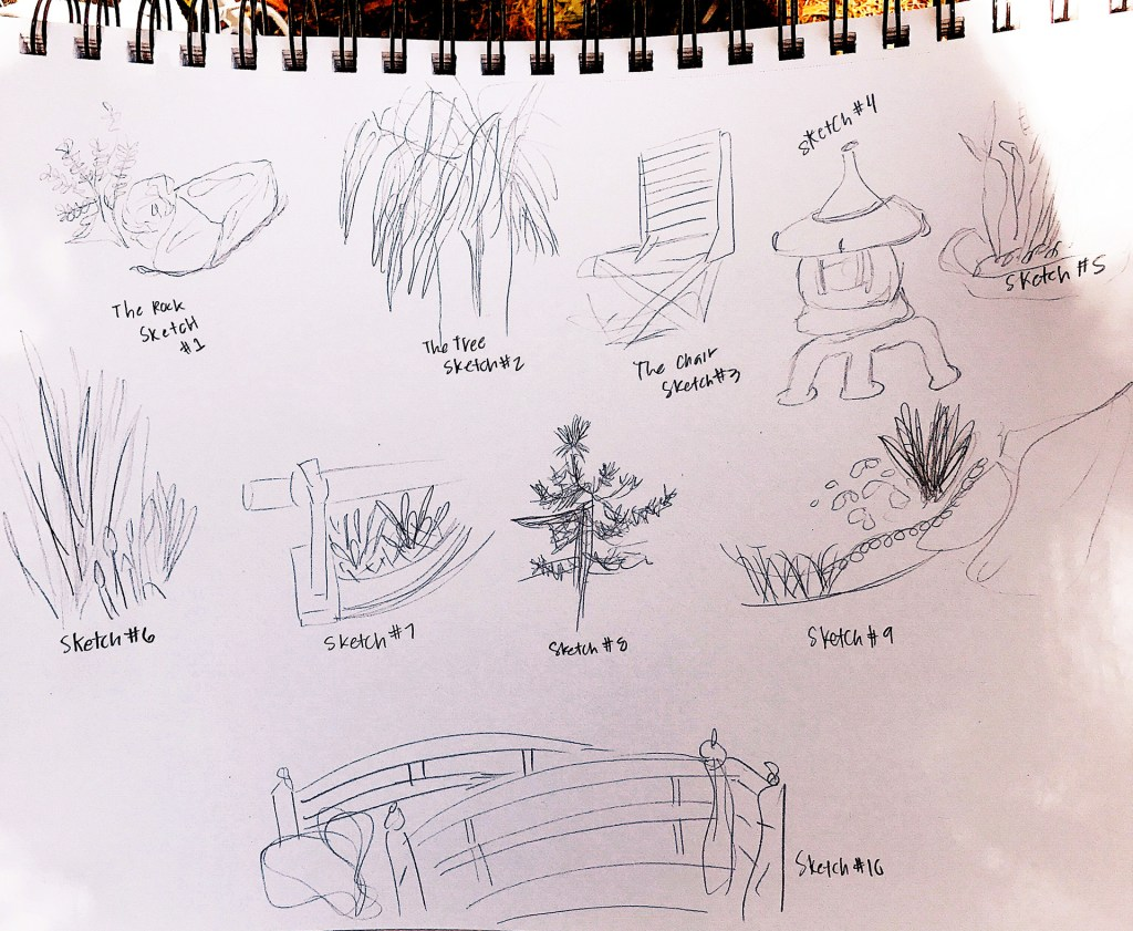 pencil sketches by Jennifer Vega