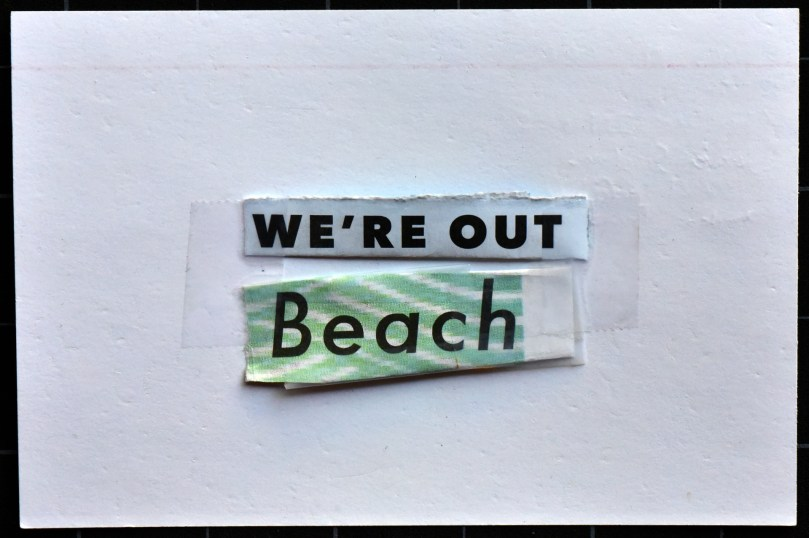 We're out beach