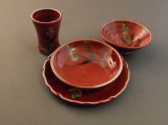 red place setting