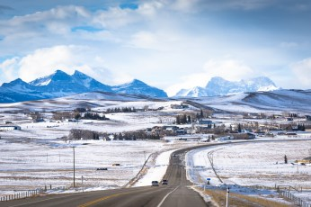 Typical Scenes on the Way to Waterton