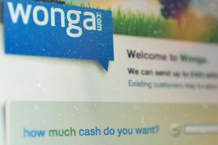 Wonga homepage photograph