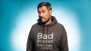 Glenn Wilshire in Bad Bosses Ruin Lives hoodie