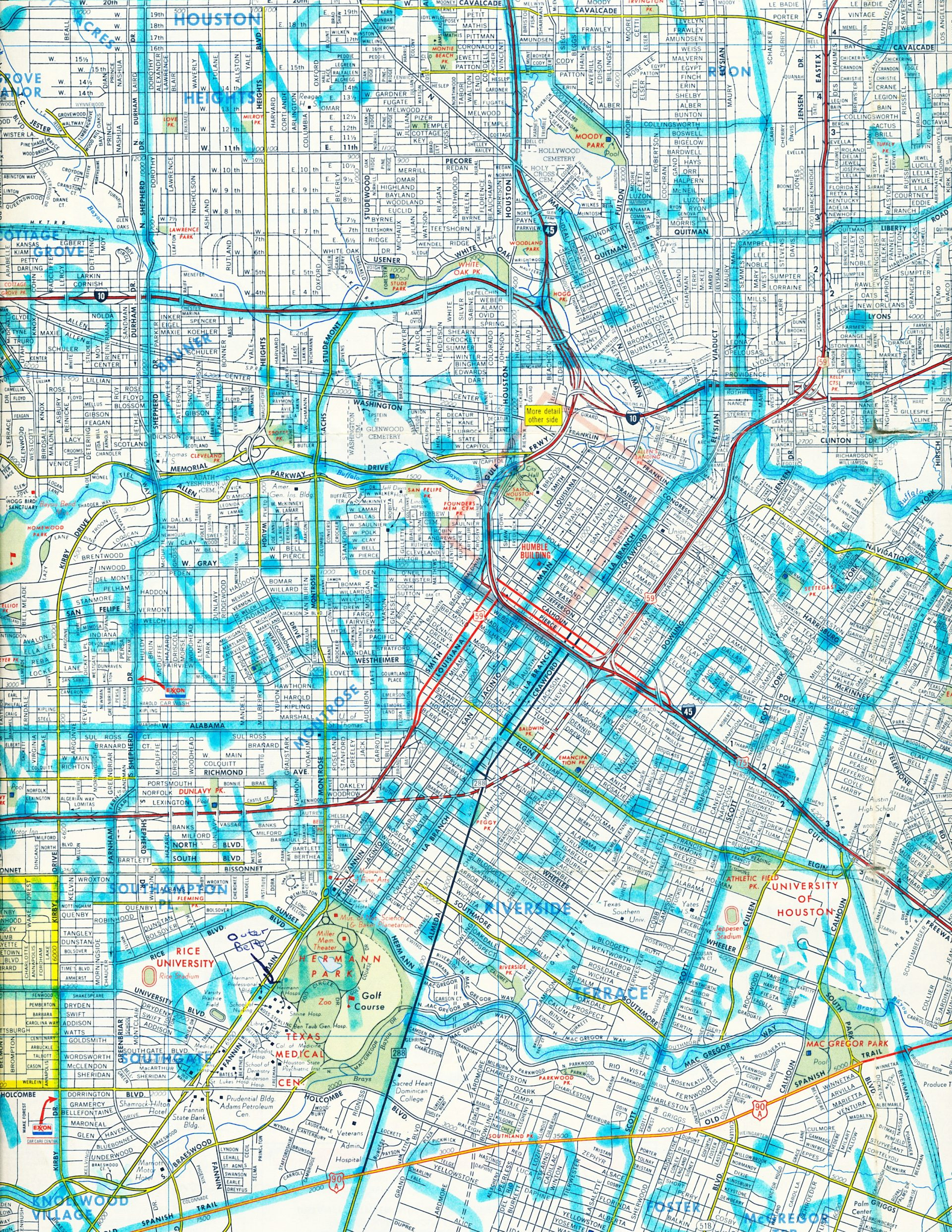 Color map of Houston showing cab zones