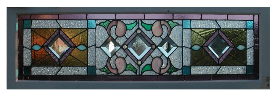 Photograph of antique leaded glass window