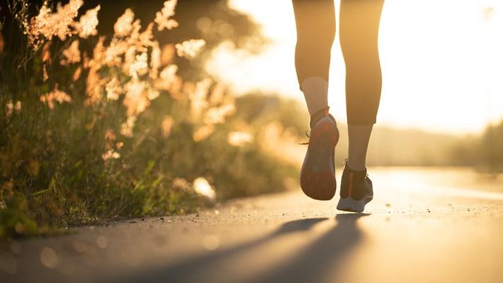 Early morning runner