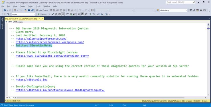 SQL Server Diagnostic Information Queries