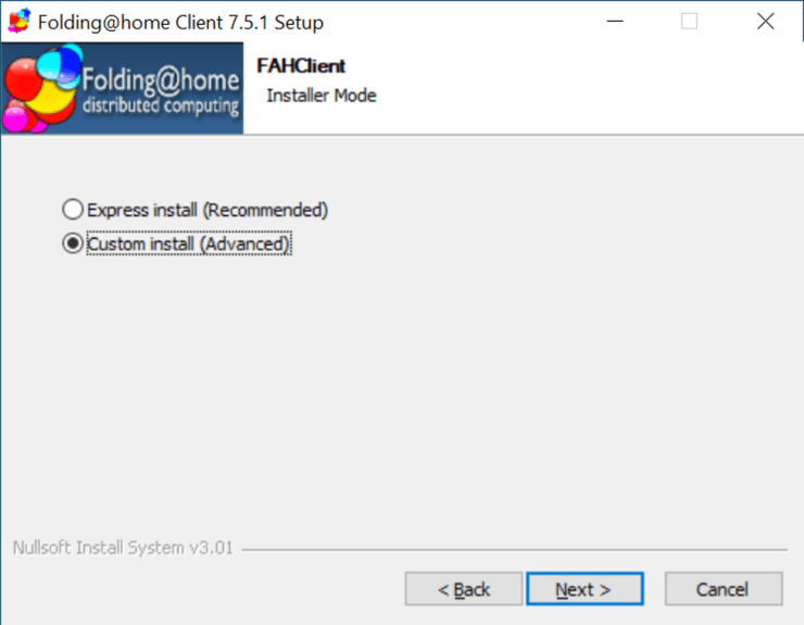 FAHClient Custom Install