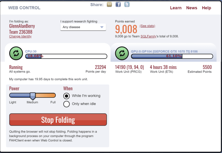 Folding@Home Web Control