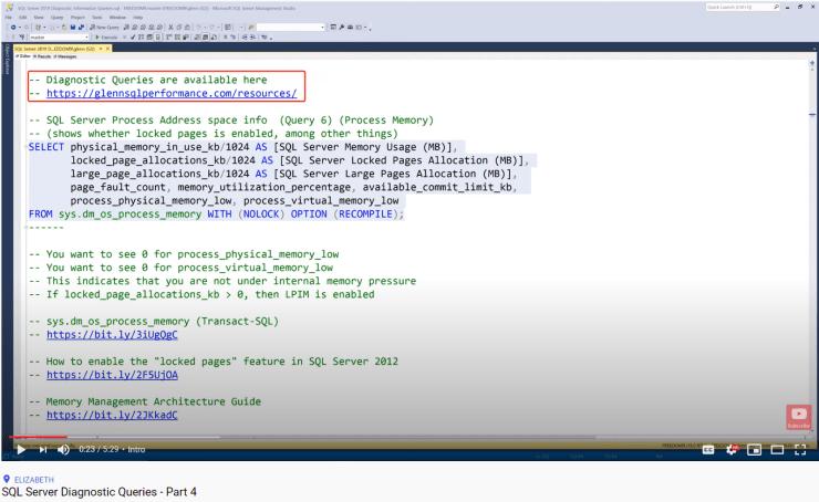 SQL Server Diagnostic Queries - Part 4
