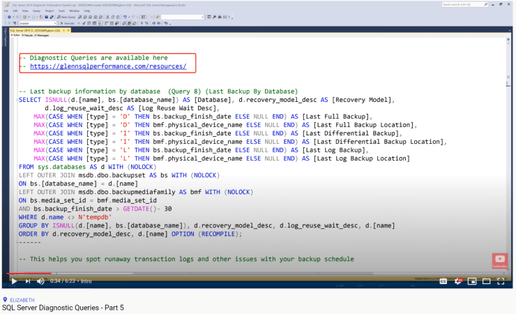 SQL Server Diagnostic Queries - Part 5