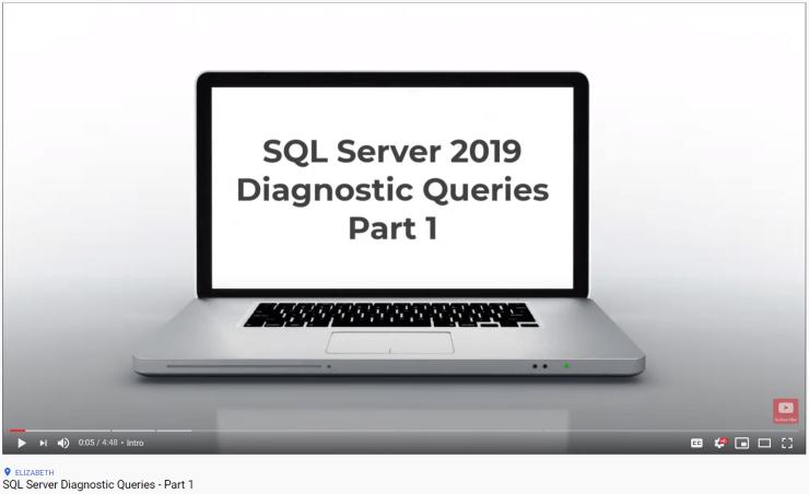 SQL Server Diagnostic Queries - Part 1