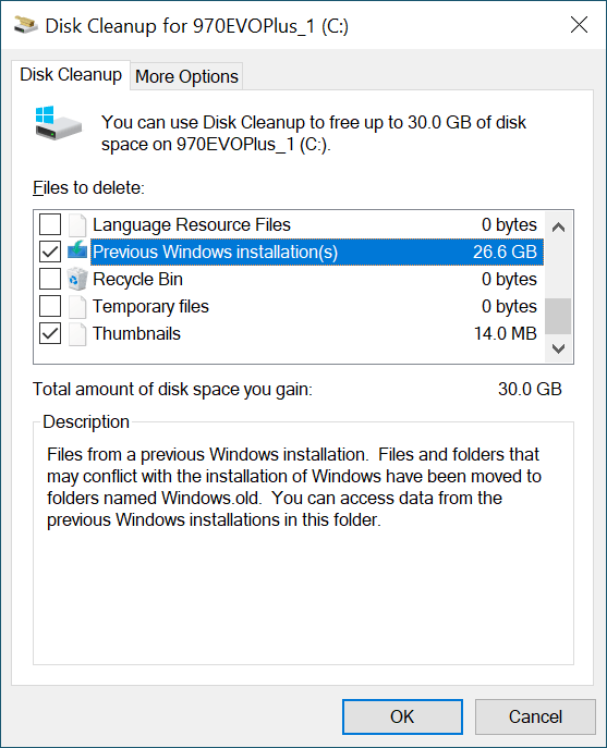 Windows Disk Cleanup
