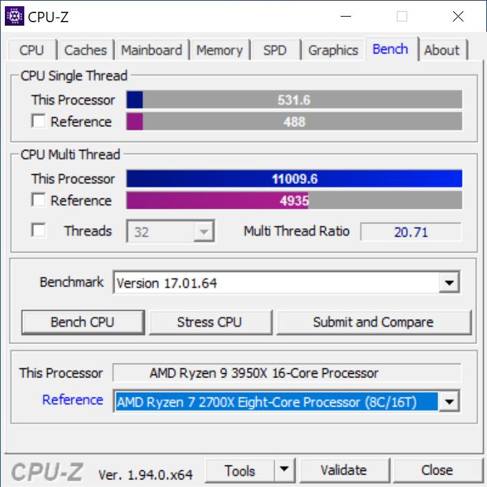 CPU-Z Bench Tab