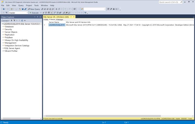 SQL Server 2019 Cumulative Update 11