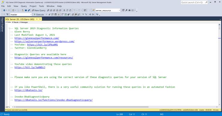 SQL Server Diagnostic Information Queries for August 2021