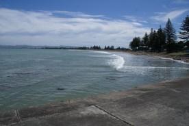 Vue de la plage de Gisborne