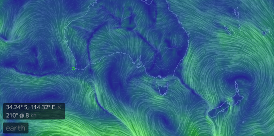 Surface wind currents in the Southern Ocean