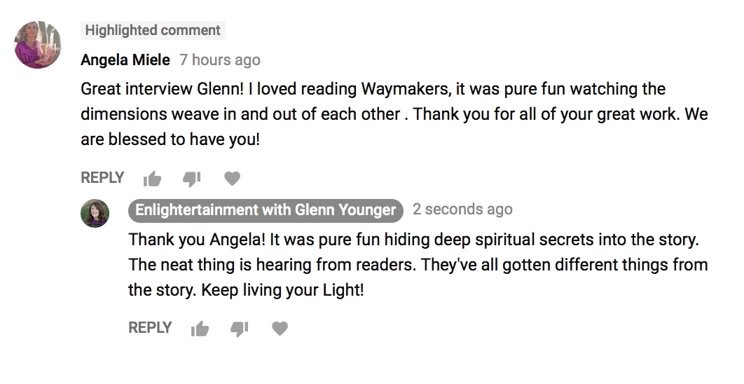 Spiritual Books - Glenn Younger with enLIGHTertainment