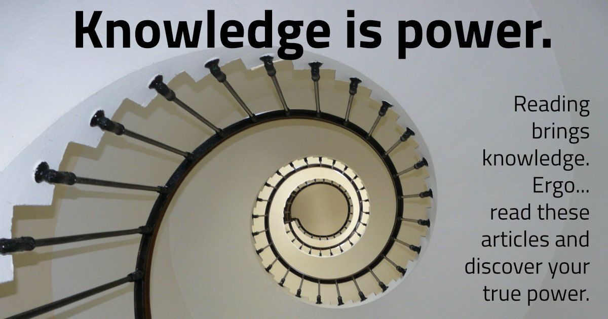 Spiritual Stories Blog post page: Knowledge is power.. Reading brings knowledge. Ergo... read these articles and discover your true power.