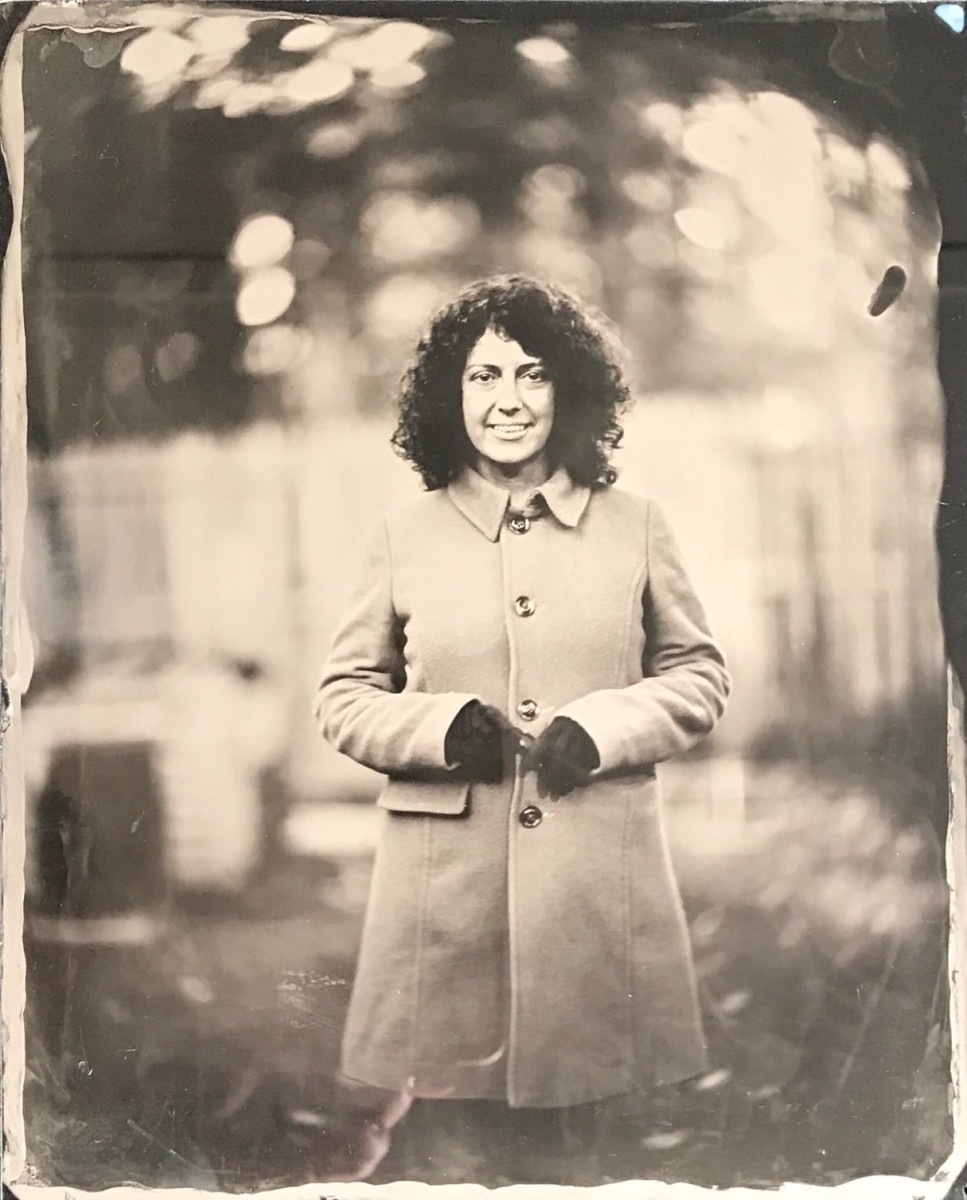 Glass plate ambrotype of a woman by photographer Craig Murphy and his Glens Falls Art tintype studio.