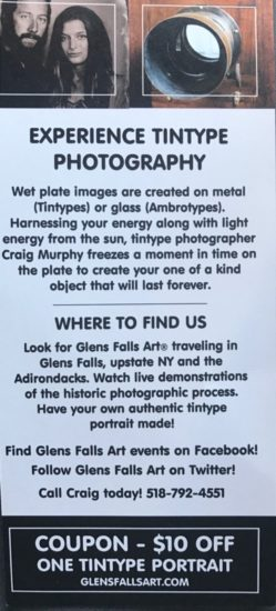 Fine art wet plate collodion portraiture by Craig Murphy and Glens Falls Art in upstate New York