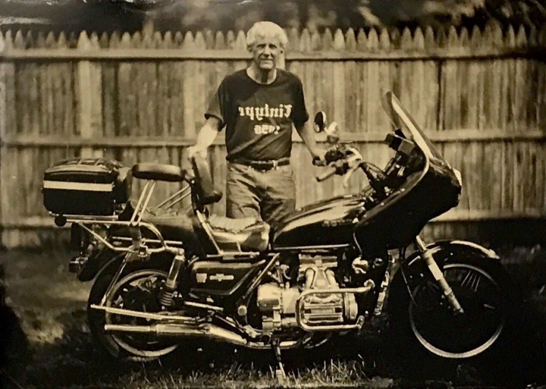 Fine Art tintype of your motorcycle made in Glens Falls with Glens Falls Art tintype studio