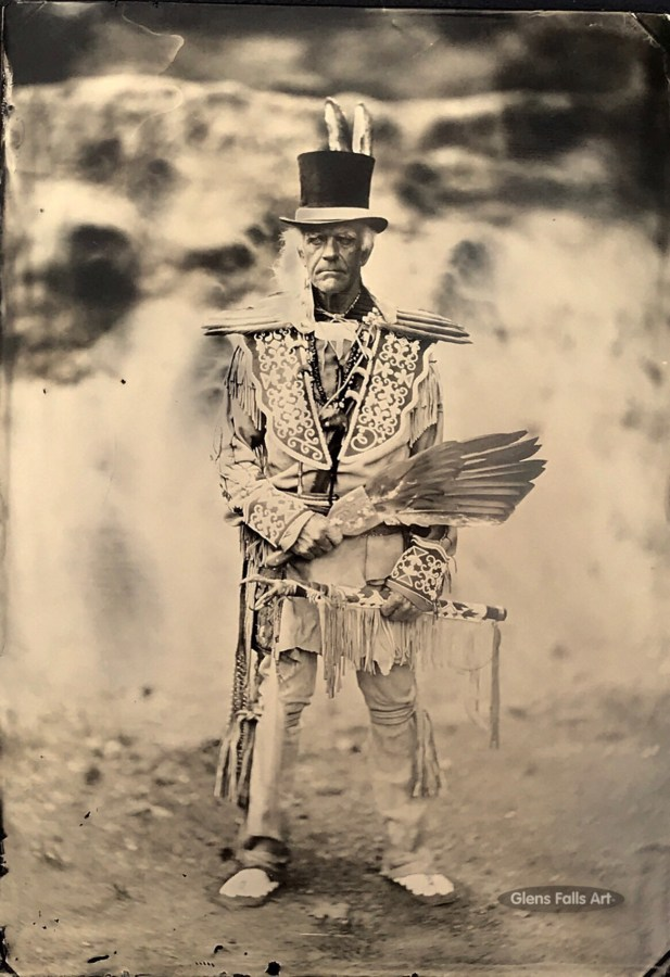 Image of Glens Falls Art tintype of an american indian reenact by Craig Murphy.
