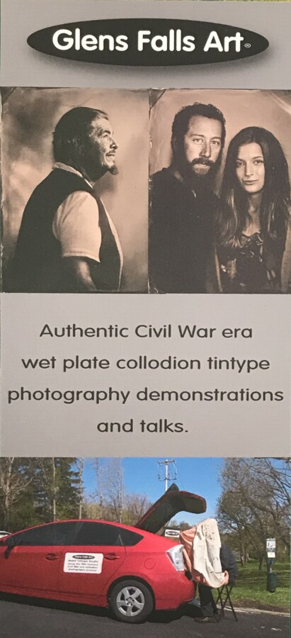 Call or text to book Craig Murphy and Glens Falls Art tintype studio for 19th century photography talk.