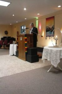 Guest speaker Charles Hall.