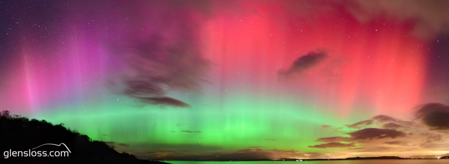 geomagnetic storm over Arran