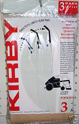 3 Genuine Kirby G3-G6 Sentra Ultimate G Vacuum Bags